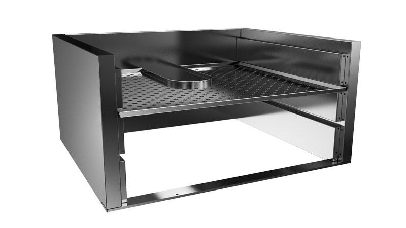 Charcoal grill adjustable rack