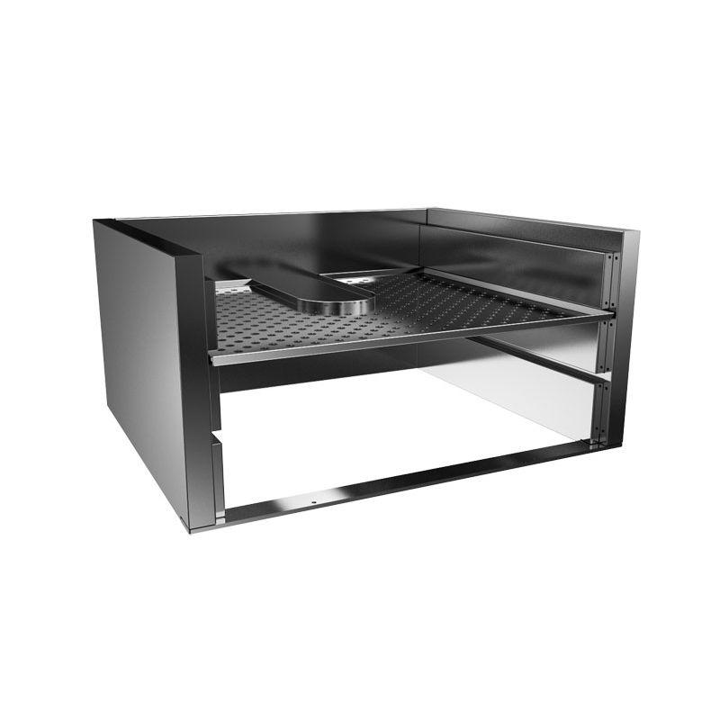 Heated grill rack